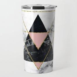 Geo glam marble Travel Mug