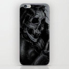 Skeleton Holding Diamond iPhone Skin