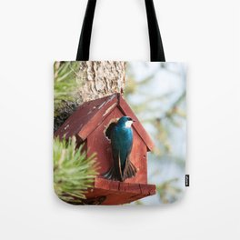 Blue Swallow Photography Print Tote Bag