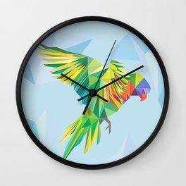 Geometric Lorikeet Wall Clock
