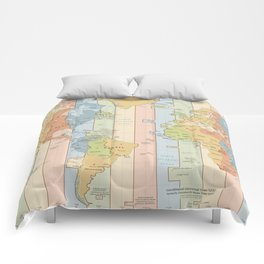 World Time Zone Map Comforters