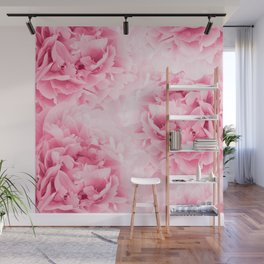 Light Red Peonies Dream #1 #floral #decor #art #society6 Wall Mural