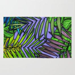 Palm & Monstera Leaves Rug