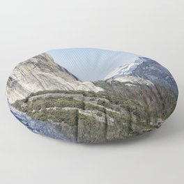El Capitan, Half Dome and Sentinel Rock from Tunnel View Floor Pillow
