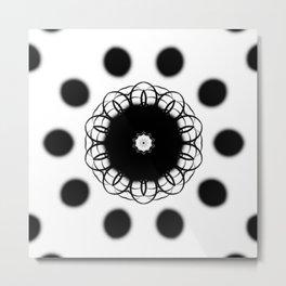 Black And White Mandala Art By Saribelle Rodriguez Metal Print