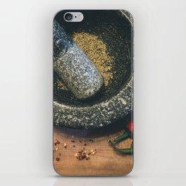 Mortar and Pestle. iPhone Skin