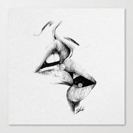 Kiss me today. Canvas Print
