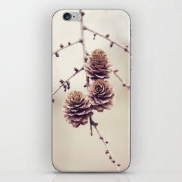 Woodland Pinecones iPhone Skin