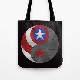YING YANG SUPERHEROES  Tote Bag
