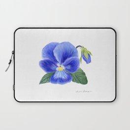 Purple Pansy by Teresa Thompson Laptop Sleeve