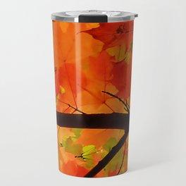 Sugar Maple Leaves in the Fall Light Travel Mug