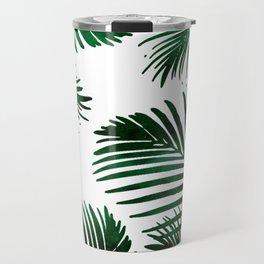 Tropical Palm Leaf Travel Mug