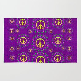 Peace be with us in love and understanding Rug