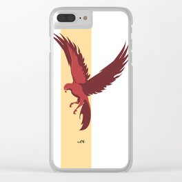 Red Falcon Clear iPhone Case