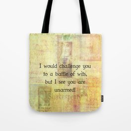 Funny Shakespeare Quote Tote Bag