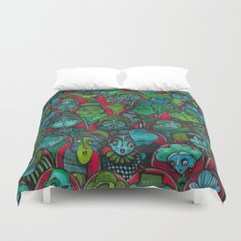 The Audience.  Duvet Cover