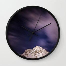 Alpine Night.. Wall Clock
