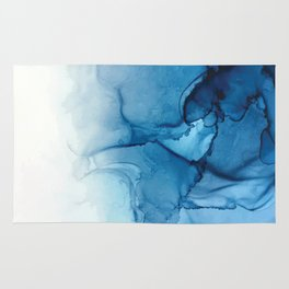 Blue Tides - Alcohol Ink Painting Rug