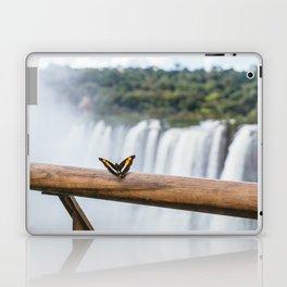 Butterfly over Iguazu Falls, Argentina Laptop & iPad Skin