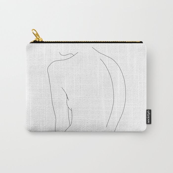Minimal line drawing of women's body - Alex Carry-All Pouch