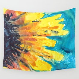 Free Flowing Sunflower Wall Tapestry