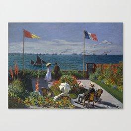 Garden at Sainte-Adresse by Claude Monet Canvas Print