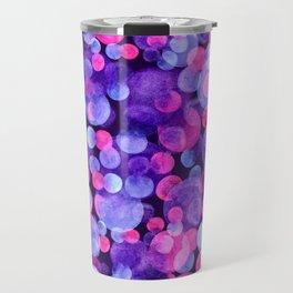 Ultra violet watercolor boken circles Travel Mug