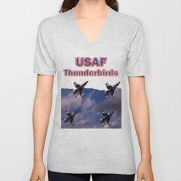 USAF Thunderbirds In Diamond Formation Unisex V-Neck