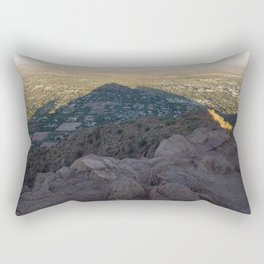In the Shadow of a Mountain Rectangular Pillow