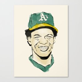 """Rickey """"The Man of Steal"""" Henderson Canvas Print"""