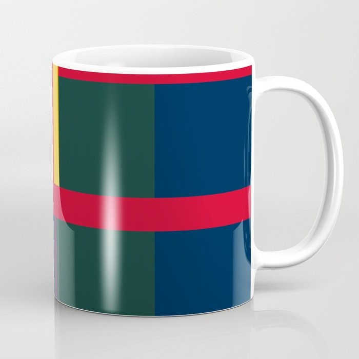 vintage, pattern, primary, colors, Coffee Mug