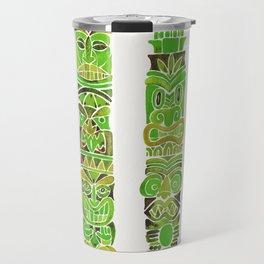 Tiki Totems – Green Travel Mug