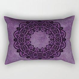 Circle in Purple Rectangular Pillow