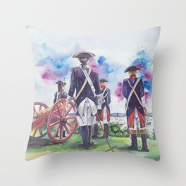 Artillery Company Throw Pillow