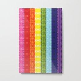 TorsoPattern Gay Pride Flag (Original 8-Color) Metal Print