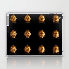 Budhha Golden Head by Lika Ramati Laptop & iPad Skin