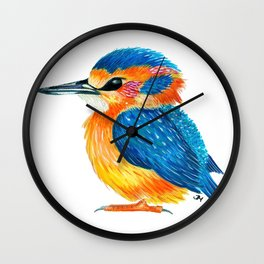 Mister Kingfisher Wall Clock
