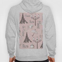 Paris Girl - Pink Hoody