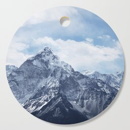 Snowy Mountain Peaks Cutting Board