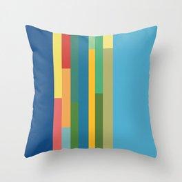 Color Stripes Throw Pillow