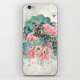 FLORAL OWL iPhone Skin