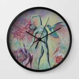 Garden Nymphs Wall Clock