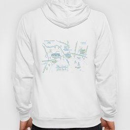 Skaneateles, New York Illustrated Calligraphy Print Hoody
