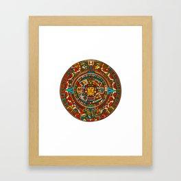 Aztec Mythology Calendar Framed Art Print
