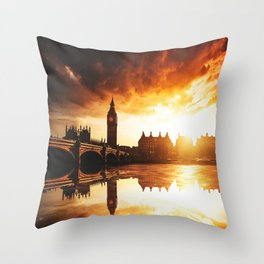 london reflections Throw Pillow