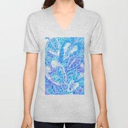 Schismatoglottis Calyptrata – Blue Palette Unisex V-Neck