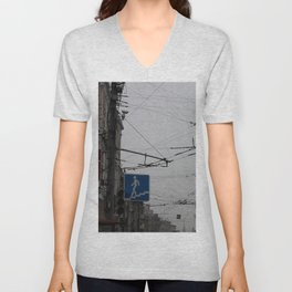 Overhead wires Moscow Unisex V-Neck