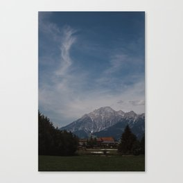 View of Austrian Alps Canvas Print
