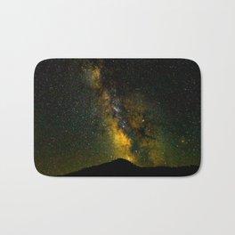 Beautiful Yellow Milky way Galaxy At Night Stars Sky Landscape Photography Bath Mat