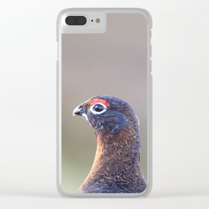 Red grouse Clear iPhone Case